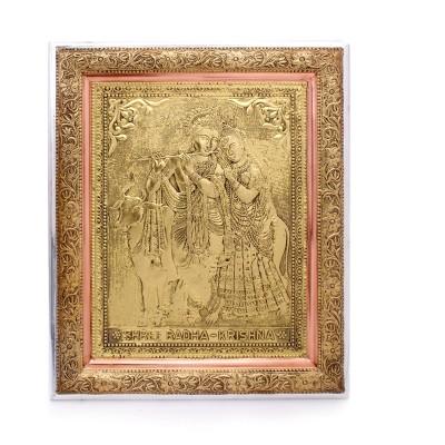 Wall Hanging - Wall Hanging - Oxidised Radha Krishna 16 inch