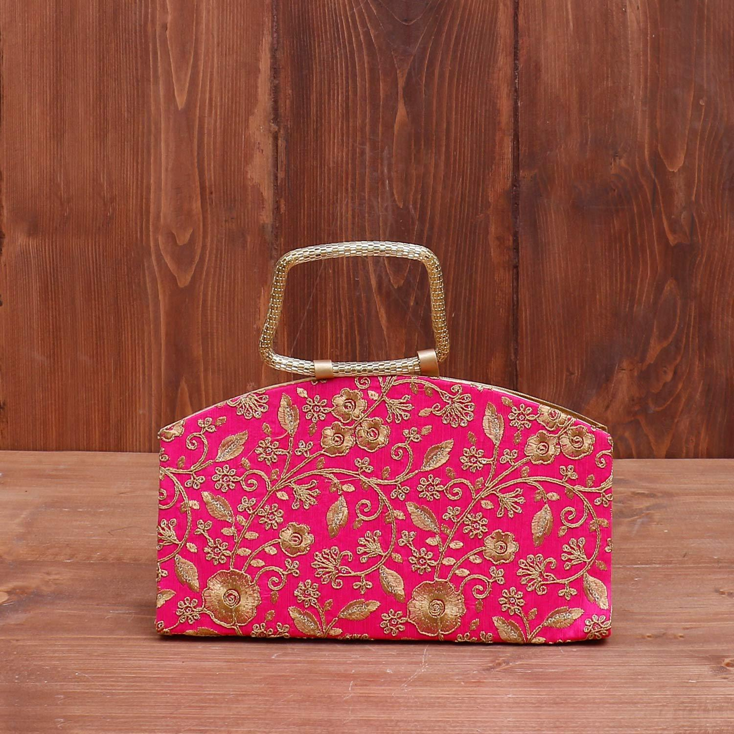 Clutch purse floral golden embroidery return gift