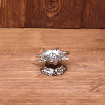 White Metal Star Diya return gift