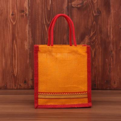 Jute Bag with zari return gift