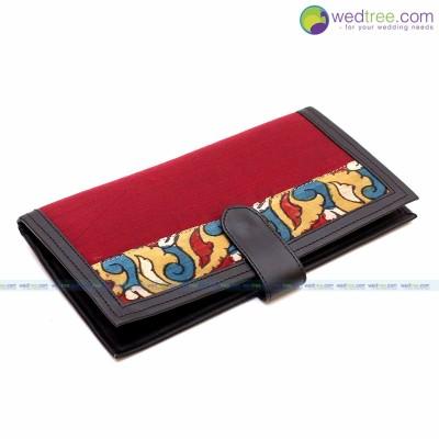 Passport Holder - Passport holder made of silk & kalamkari fabric return gift