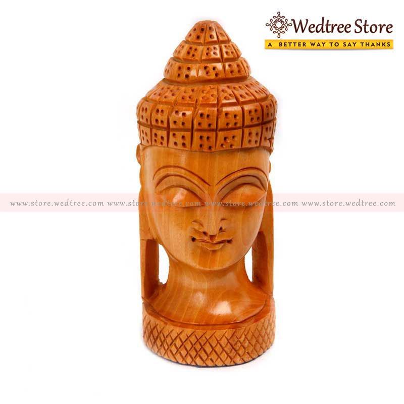 "Wooden Buddha - Buddha means ""awakened one"" or ""the enlightened one return gift"