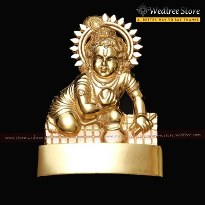 Laddu Gopal  - Laddu Gopal of zinc alloy with gold electro plating return gift