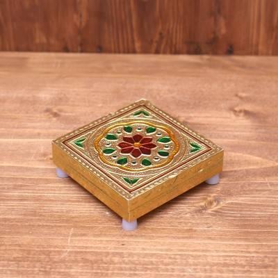 Minakari Manai 3 x 3 inch return gift