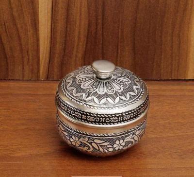 Oxidised kumkum box return gift
