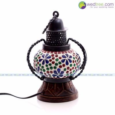 Lantern - Beautiful lantern made of Wood and it is glass painting.