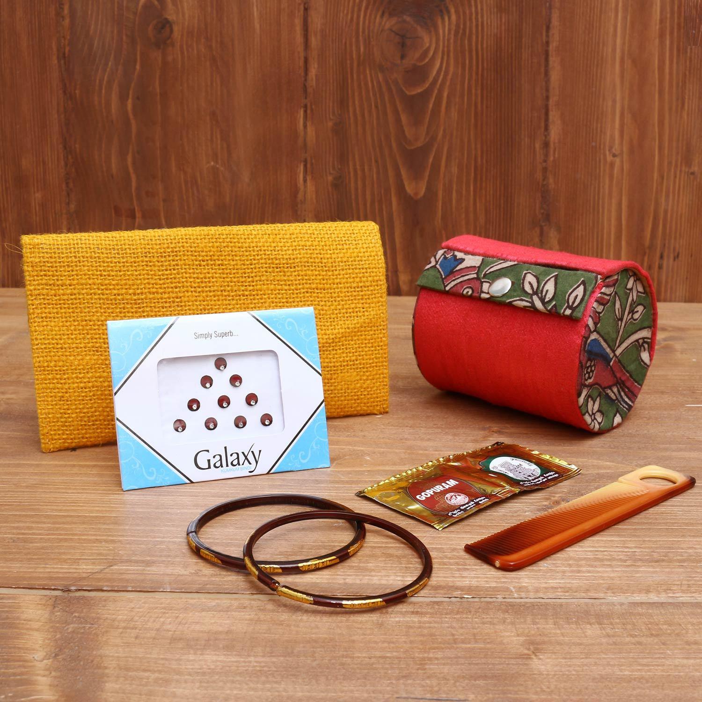 Gift Combo Jute Purse with Kuber Deepak small return gift