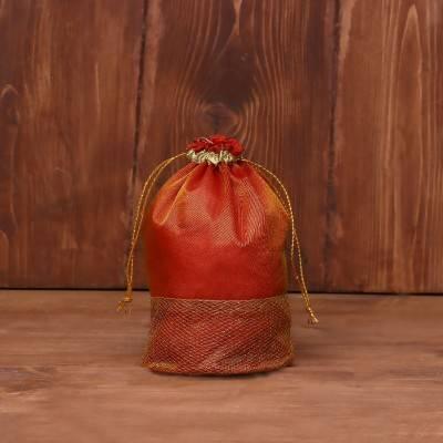 Potli bag tissue with golden draw strings return gift