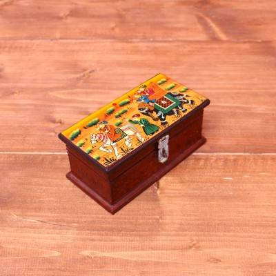 Wooden Hand painted Jewel Box 5.5 inch return gift