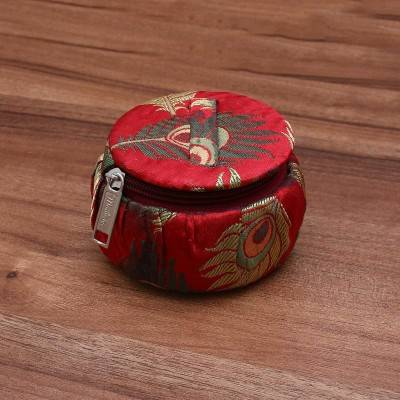 Bangle box with peacock feather design Indian return gift