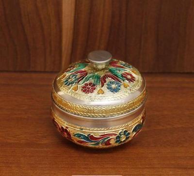 Minakari kumkum box return gift