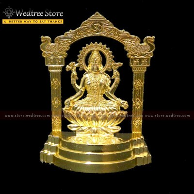 Frame - Lakshmi made of zinc alloy with gold electro plating return gift