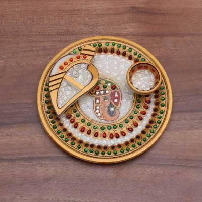 Marble Round Arthi Thali Indian return gift