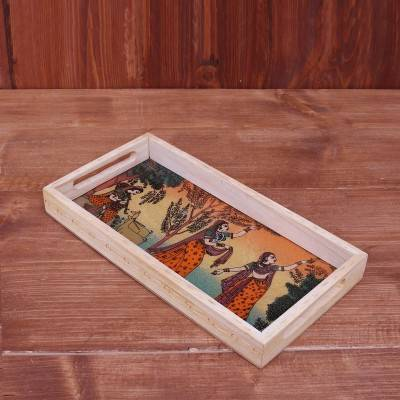 Wooden Gemstone Painting Tray 12 X 6 inch return gift