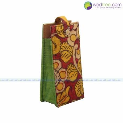 Specs case - Specs case made of silk & kalamkari fabric return gift
