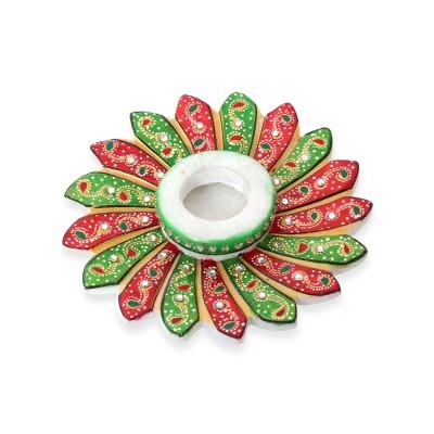 Candel Holder  - Marble - Flower Candel Holder
