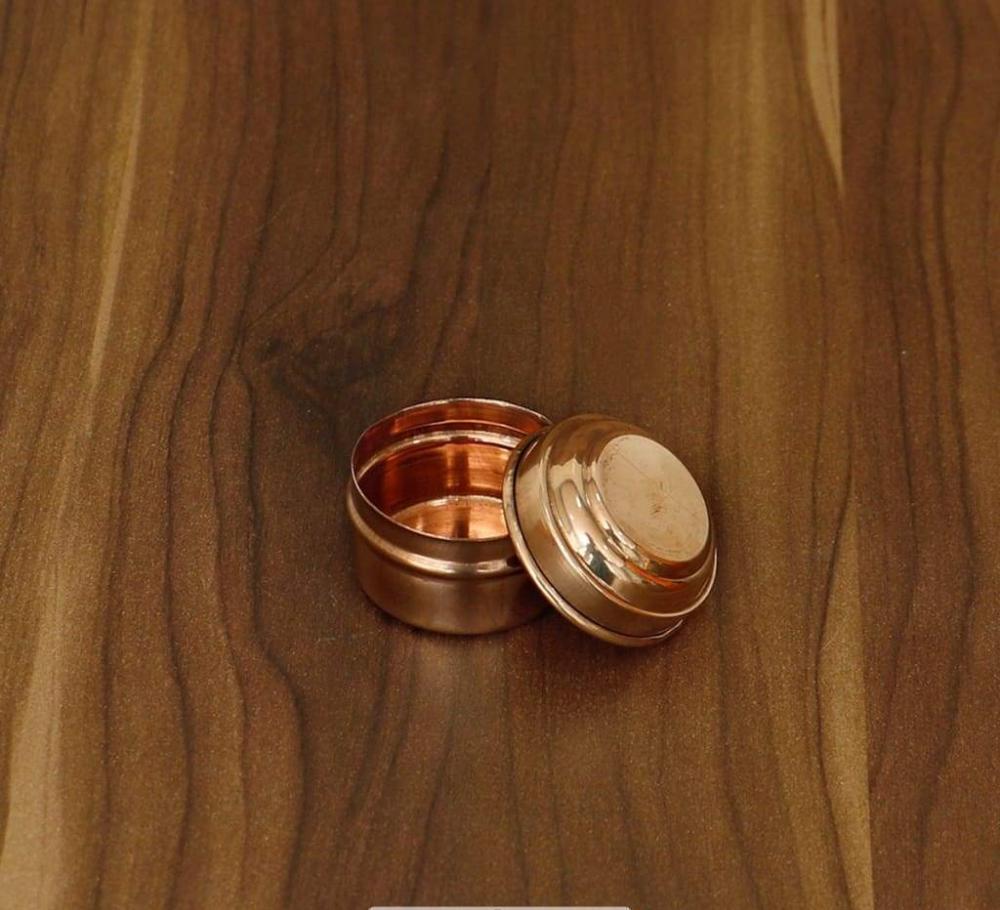 Copper kumkum dibbi mini return gift
