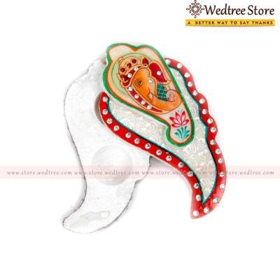 Kum kum holder - Marble ganesha slider type kum kum holder crafted in marble at its best return gift