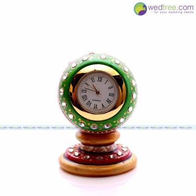 Clock - Clock is made of marble with hand painting return gift