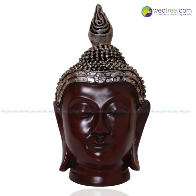 Buddha Head with Crown - Buddha Statue with Crown made of plaster of Paris .