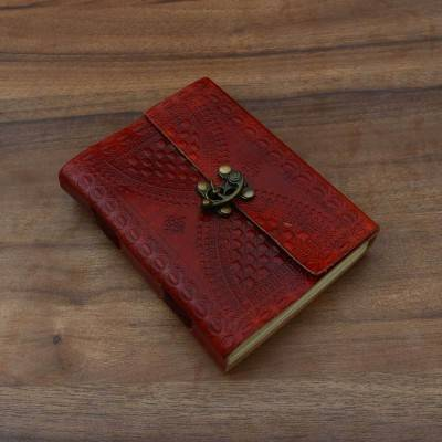 Leather diary with hand made paper Indian return gift