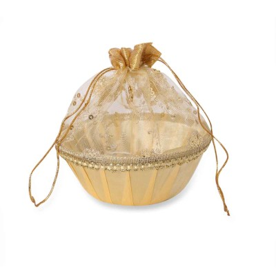 Tissue Bag - Bag made of tissue cloth with round base big return gift