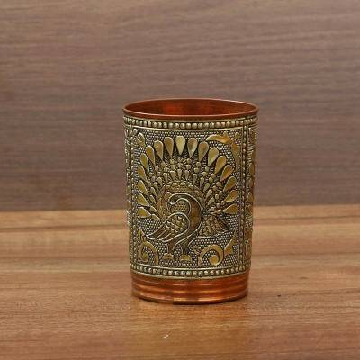 Copper Glass with German Oxidised Finish Indian return gift