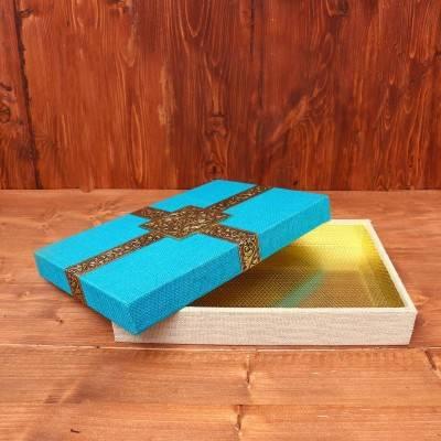 Elegant Saree Box with Jute Finish return gift