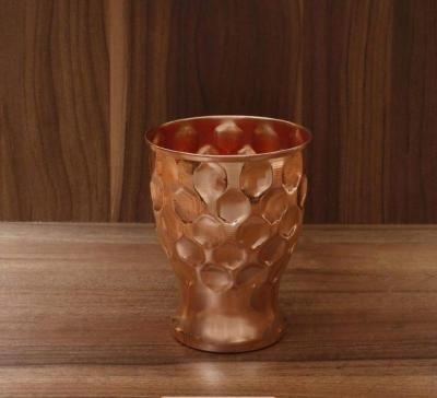 Copper glass with diamond design return gift