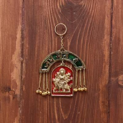 White Metal Durga Hanging Gold Finish with Minakari Work return gift