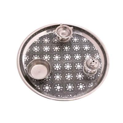 Pooja Thali - Stainless steel pooja thali  return gift
