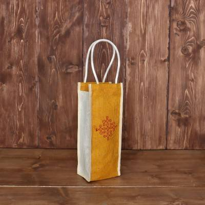 Jute Water Bottle bag return gift