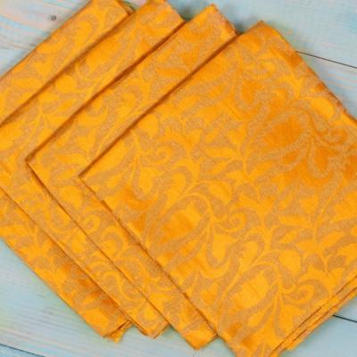 Brocade Blouse Bit - Brocade Blouse Bit Yellow Floral Design - Pack of 10