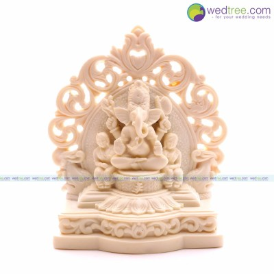Jali Ganesh - Ganesh idol is made of marble return gift