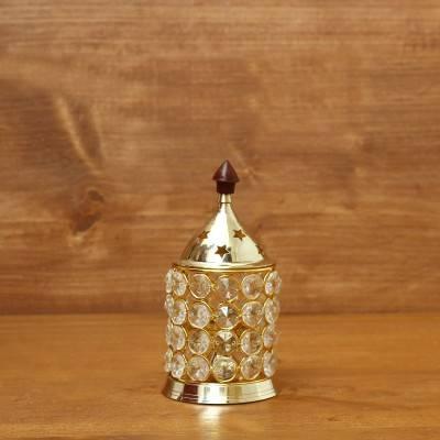 Brass Crystal Diya 2 inch return gift