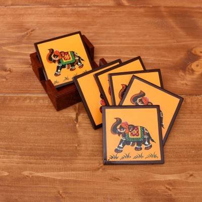 Wooden Hand Painted Coaster return gift
