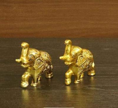 White metal gold finish Elephant set of 2 return gift