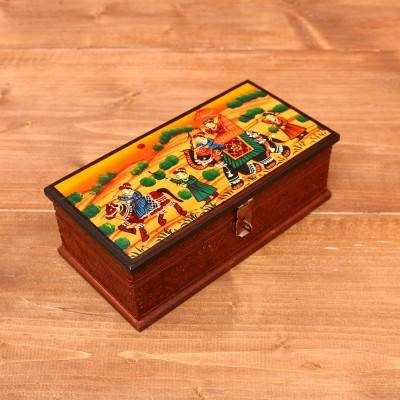 Wooden Hand painted Jewel Box  8 inch return gift