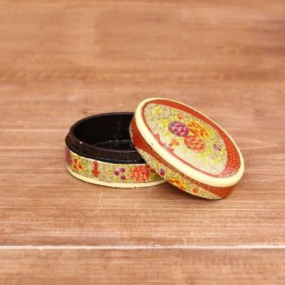 Hand Painted Paper Mache Jewel Box return gift