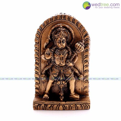Fridge Magnet - Hanuman idol made of plaster of paries with hand painting return gift