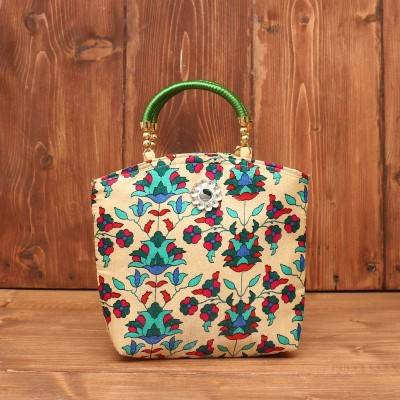 Hand Bag - Flower Print with Motif return gift