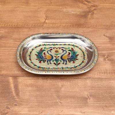 Minakari Oval Plate 11 inch return gift