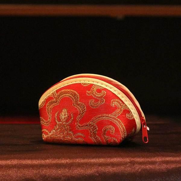 Raw Silk Coin Purse return gift