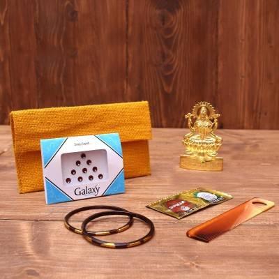 Gift Combo Jute Purse with Jute Bag Zari small return gift