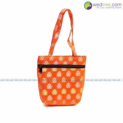 Hang Bag - Hand bag made of brocade fabric return gift