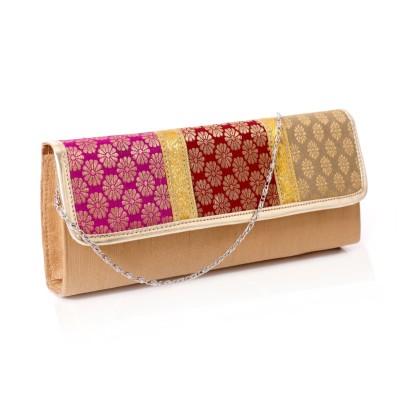 Designer Clutch - Elegant clutch made of cardboard embossed with flower design return gift
