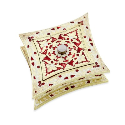 Minakari Dry Fruit box - Diamond Shaped-W2940 return gift