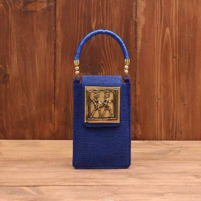 Mobile Pouch Warli design with thread handle return gift