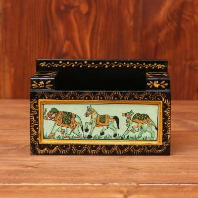 Wooden Hand Painted Card Holder return gift