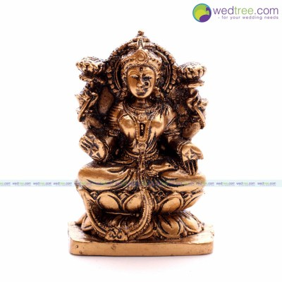 Fridge Magnet - Lakshmi idol made of plaster of paries with hand painting return gift